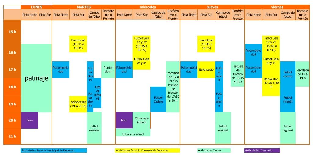 horario pabellon